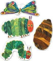 The very hungry caterpillar cut-outs