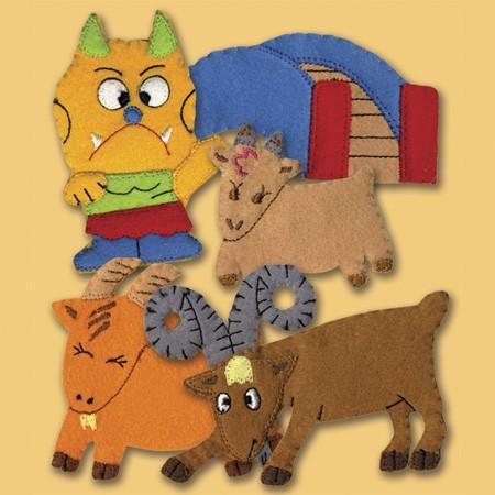 Three Billy Goats Gruff finger puppets