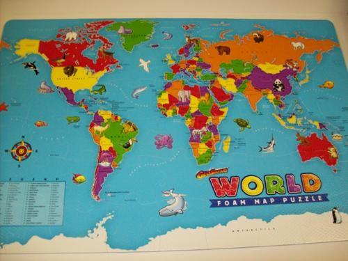 Puzzle de suelo del mundo
