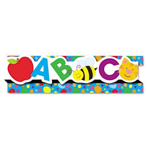 Cenefa decorativa abc cenefas y decorativos peque os - Cenefas de papel infantiles ...