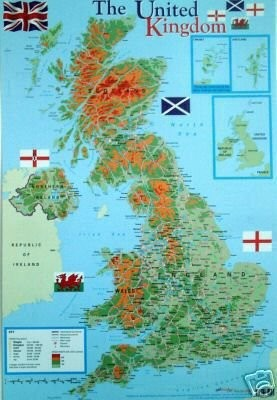 UK geographical map