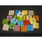 Pocket dice cards: number cards
