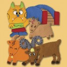 Three Billy Goats Gruff finger puppets