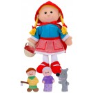 Little red riding hood hand puppet and finger puppets