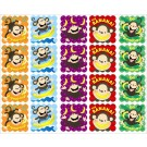 Scratch 'n sniff stickers monkeys
