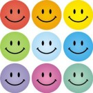 Smile stickers mix coloured pack