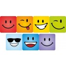 Smiling face giant square stickers