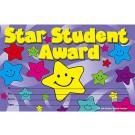 Star student award kids motifs